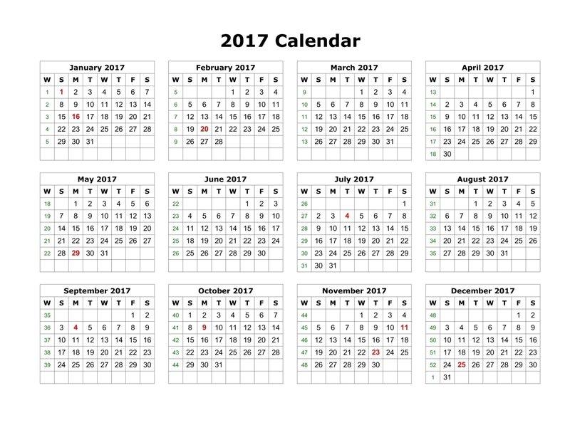 Free Printable Calendar Templates 2017 | Rallypoint