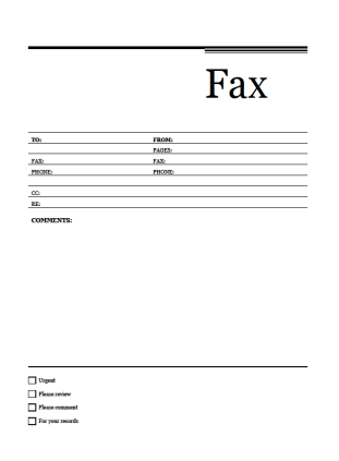 free fax cover sheet template download rallypoint