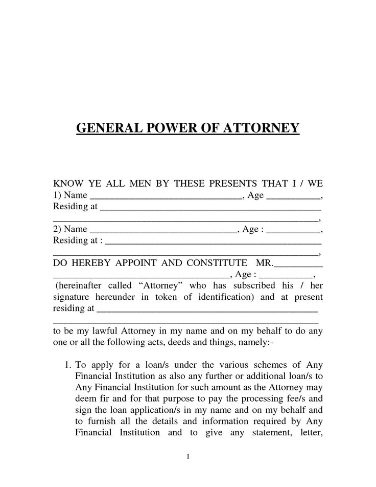 General power of attorney form: download, edit, fill, print.