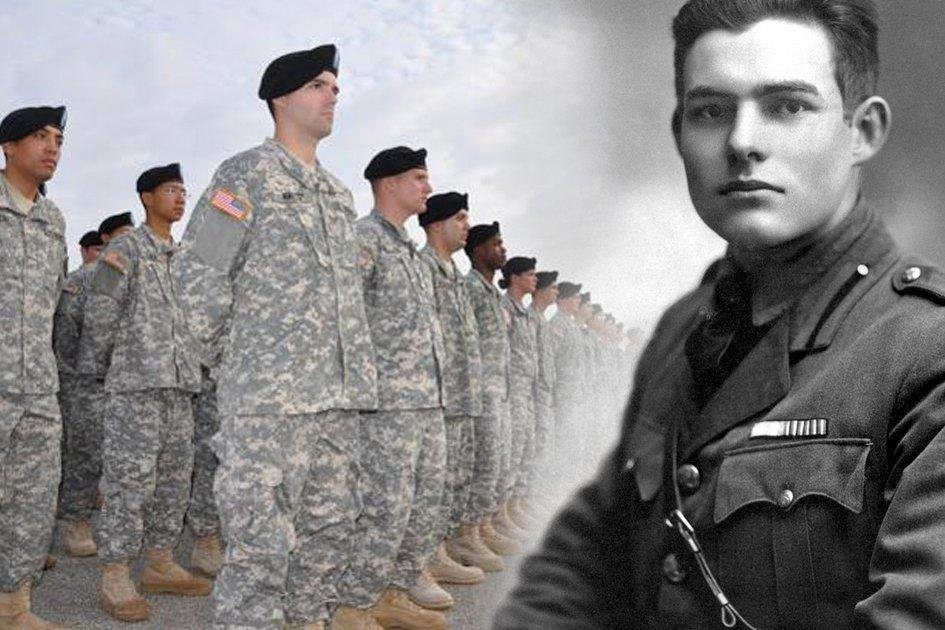 a between soldiers home by ernest hemingway and speaking of courage by tim obrien