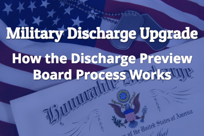 military discharge upgrade discharge review board process