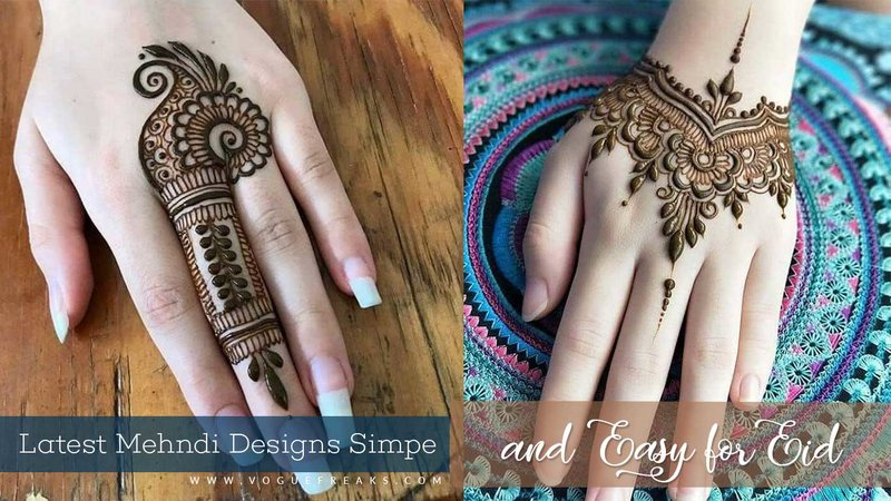 Latest Mehndi Designs Simple and Easy for Eid