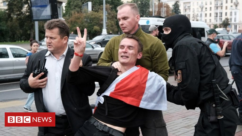 Belarus protests: Students held as marches mark new term ...