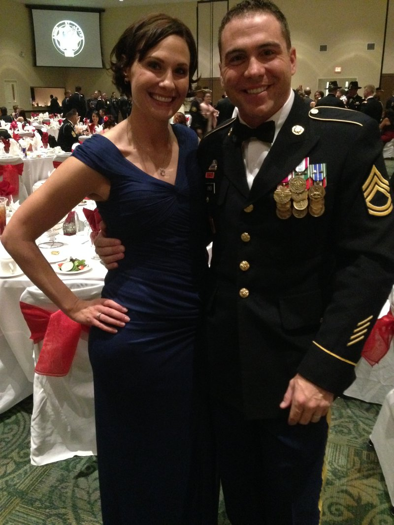 Pictures of army dress blues with medals