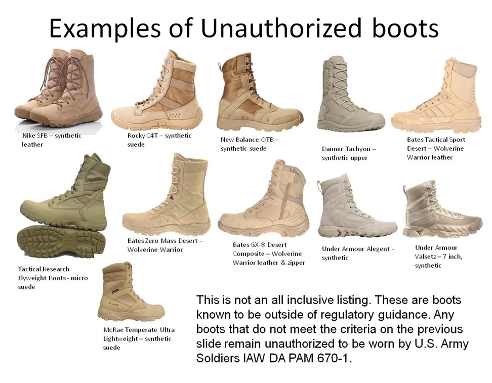 Should boots like Nike and Rocky C4T be authorized? | RallyPoint
