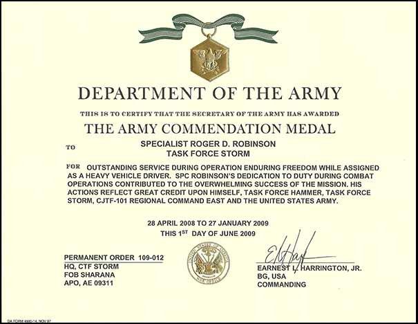 ARCOM7 Army Da Form Proposed Citation Example on internal citation examples, army plaque citation examples, arcom citation examples,