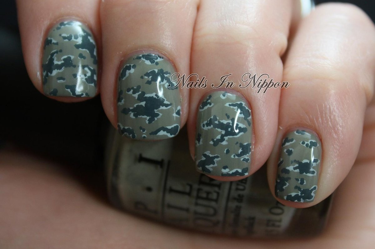 Coast guard uniform nail
