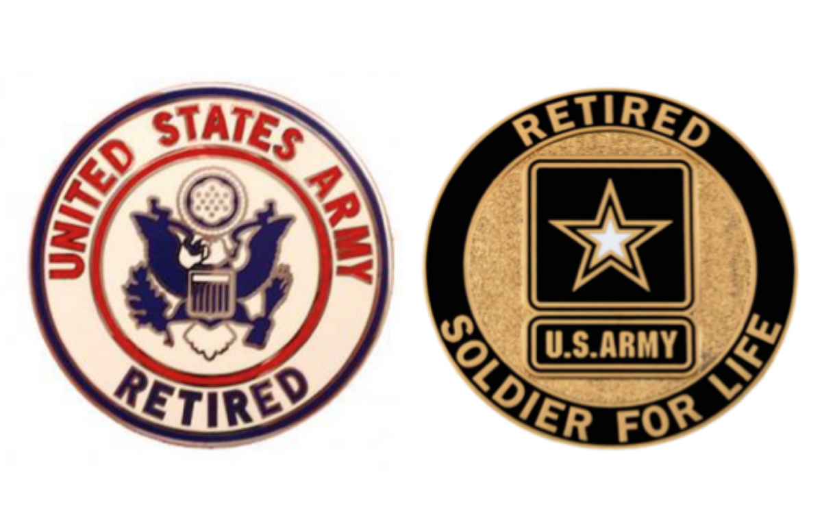 new revised army retired service identification badge rallypoint