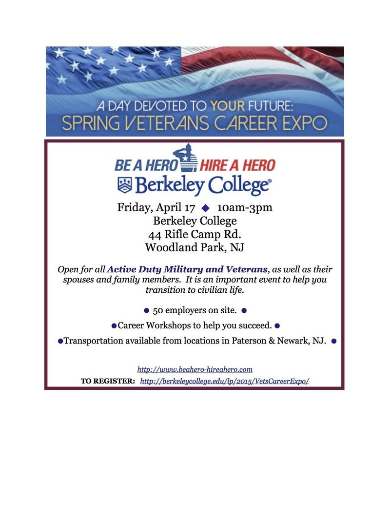 Be a Hero Hire a Hero Career Fair NJ | RallyPoint
