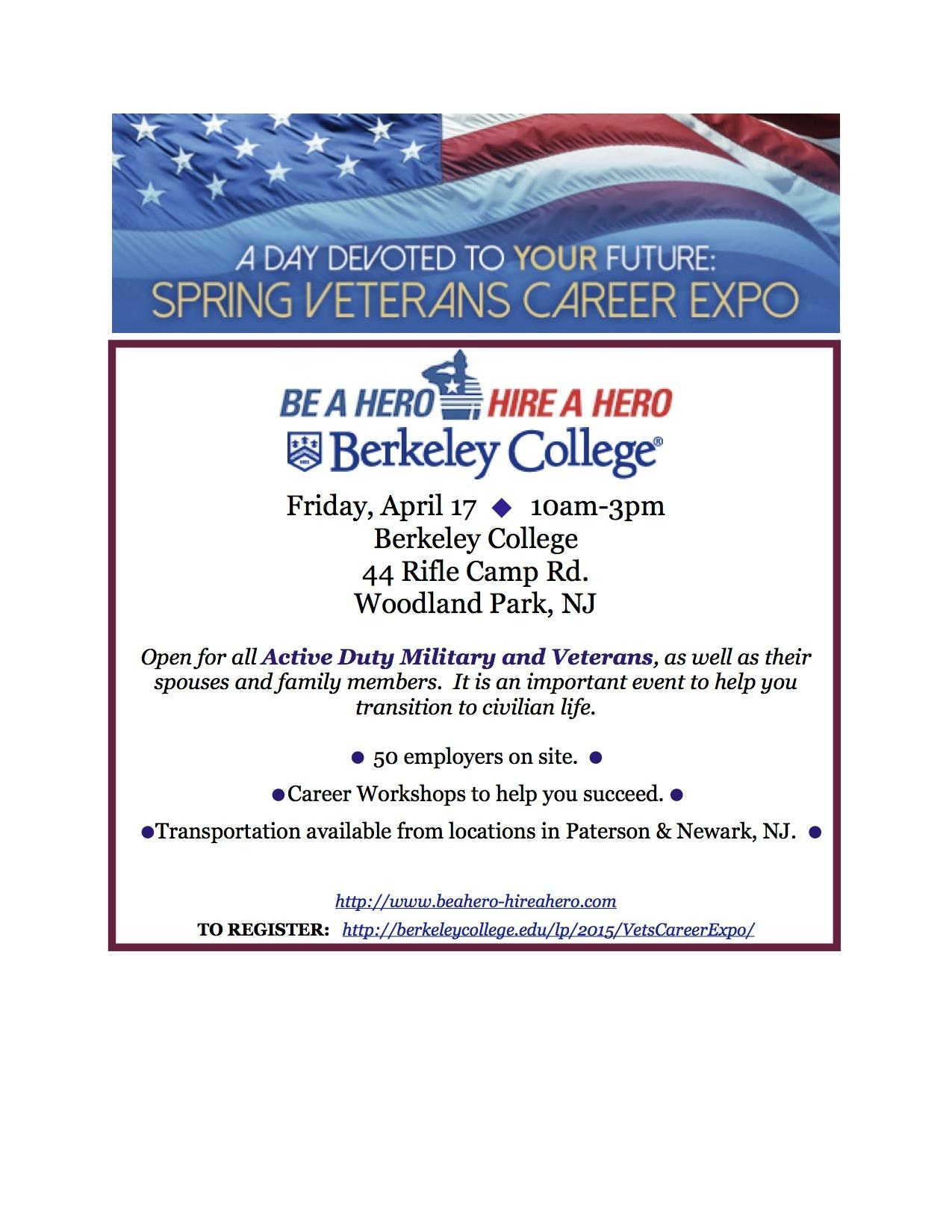 Be a Hero Hire a Hero Career Fair NJ | RallyPoint