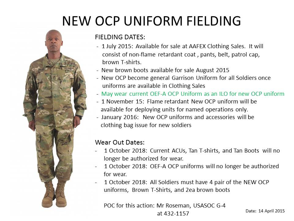 New Army OCP Timeline (As of 01 July, are we authorized to