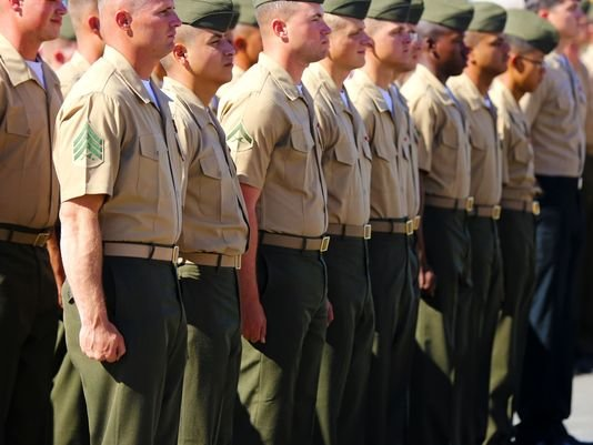 Marine corps service alpha uniform, leather pa