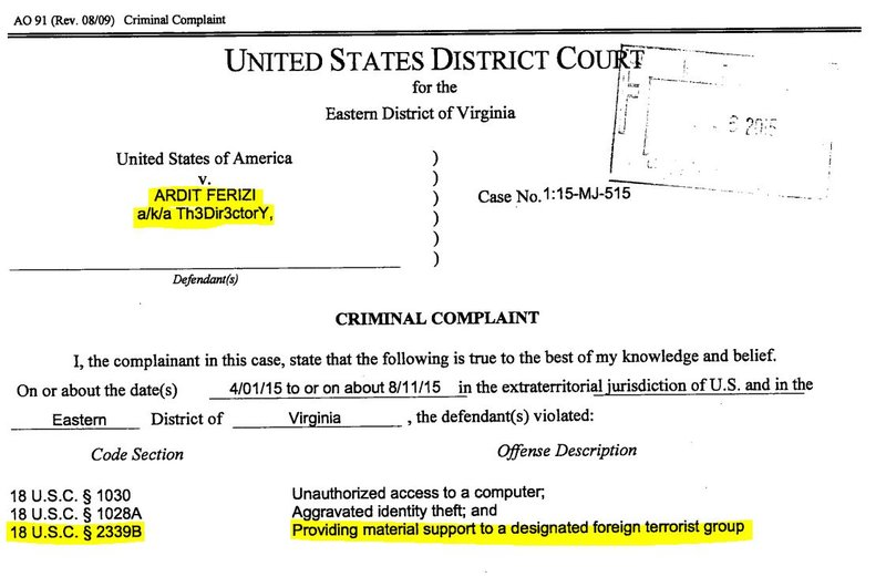 First Of Its Kind Extradition Us V Ardit Ferizi Your Thoughts