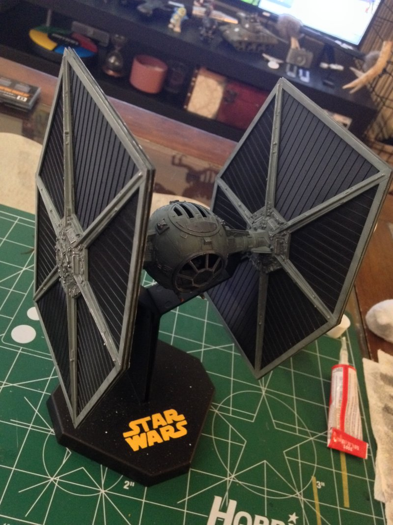 My completed 1/48 Revell Model Masters TIE Fighter  I