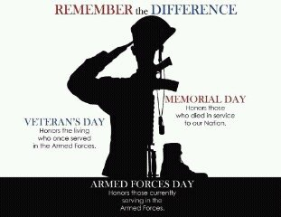 Image result for difference between memorial day and veterans day