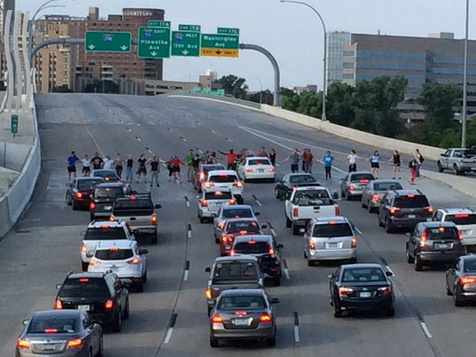 Would You Drive Through Protesters Blocking Road Rallypoint