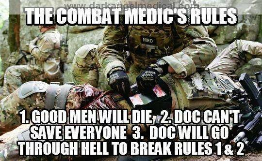 Is Combat Required To Be Called A Medic