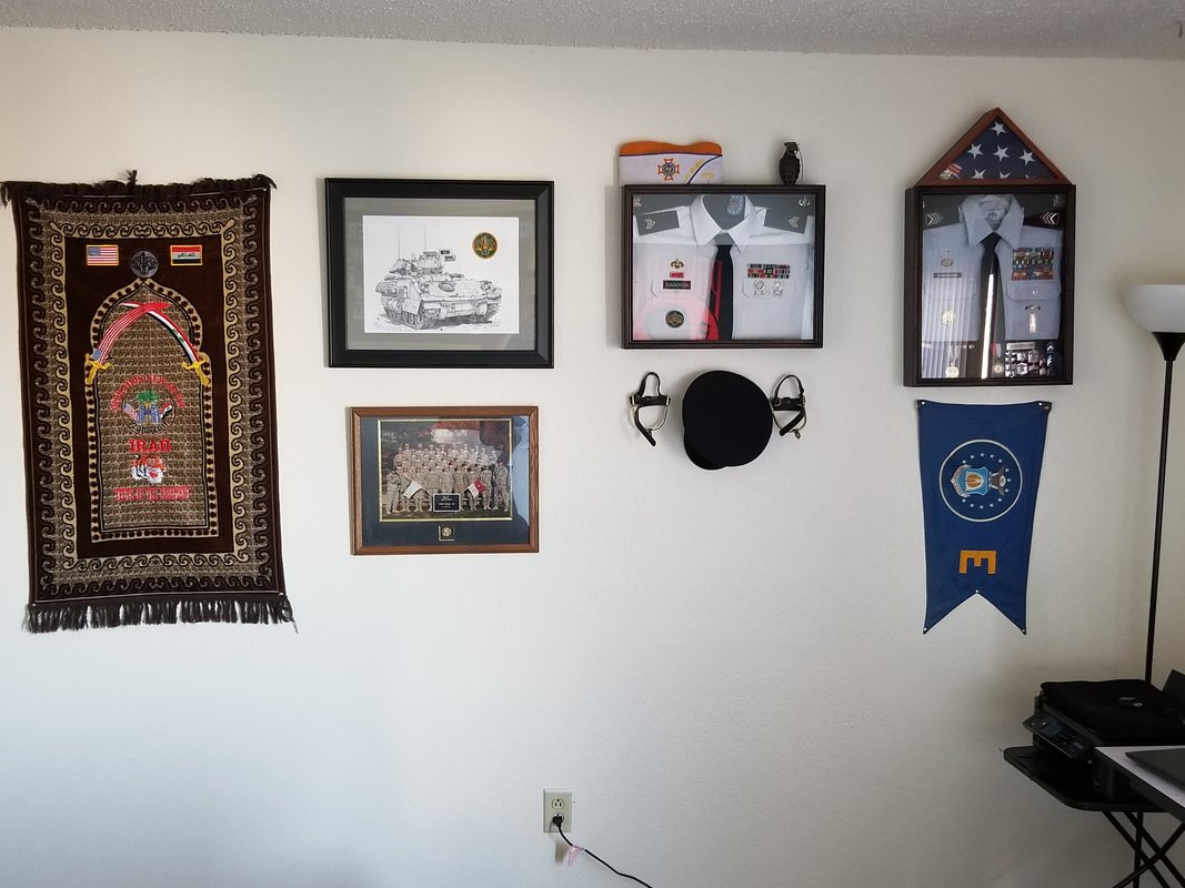 Do you have any of you military memorabilia on display at home or at ...