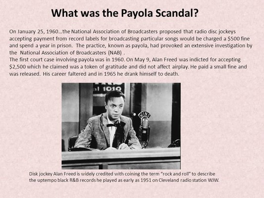 The Payola scandal heats up - Feb 11, 1960 - HISTORY.com   RallyPoint