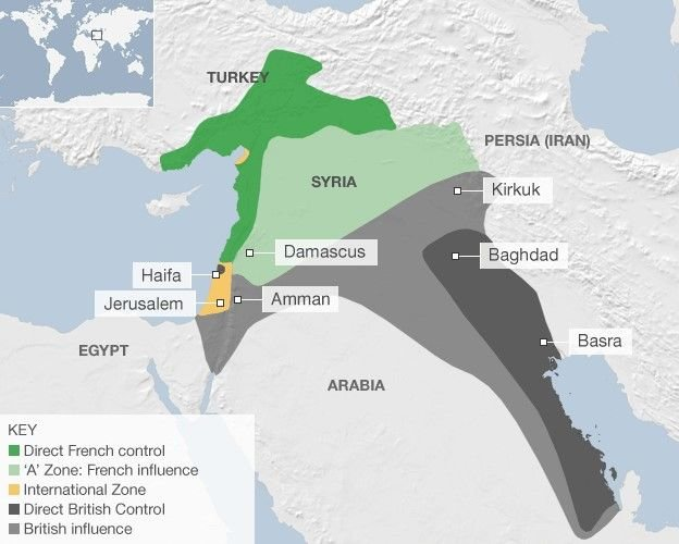 Britain And France Conclude Sykes Picot Agreement May 19 1916