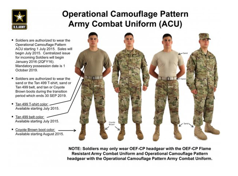 What headgear is authorized for the OEF-CP or OCP uniforms