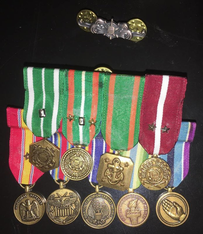 Good Conduct Medal with 3 stars for subsequent awards  National