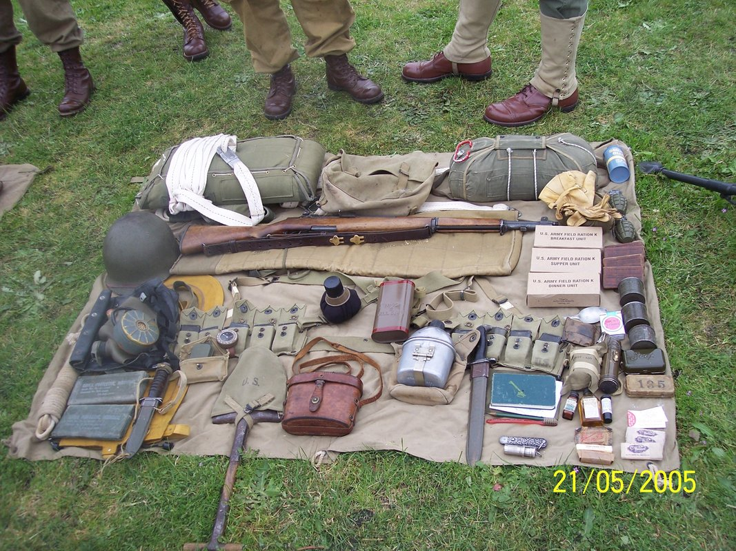 WWII ARTIFACTS OF THE DAY 82 AIRBORNE PARATROOPER EQUIPMENT