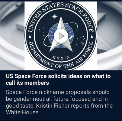 What Should Space Force Call Its Members Rallypoint